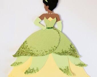 Beautiful Tiana Disney Princess and the Frog Inspired Paper Wall Art