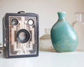 Art Deco Camera, Working Brownie Six-20, Gift For Artist, Photographer, Unexpected Gift Idea Under 50