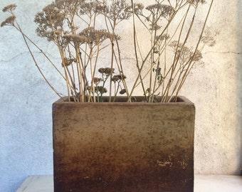 Midcentury Modern Mexican vase geometric planter, Mexican ceramic planter, geometric vase dry flower, Southwestern decor, rustic home decor