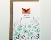 Happy Birthday Daisies  - Tiny Envelopes Card
