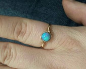 Opal Wire Wrapped Ring 14k Gold Fill or Argentium Sterling Silver