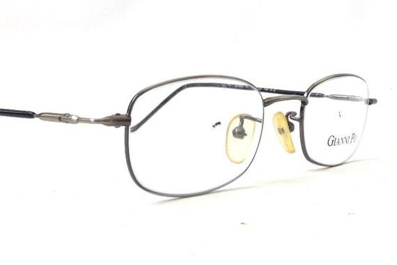 vintage 1990 u0026 39 s nos gianni po eyeglasses silver black wire