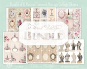Bundle of SIX Retired Printable Tag Sheets ATC Tattered Vintage bundle no. 188 Instant Download
