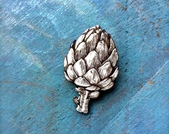 Artichoke Thistle Brooch Pin Artichoke Jewelry Chef Cook Vegan Chef Gift Vegetable Brooch Artichoke Jewelry Artichoke Pin
