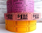 Pink Vintage Carnival Tickets / 20 Tickets / Carnival Tickets / Journal Supply / Scrapbook Ephemera