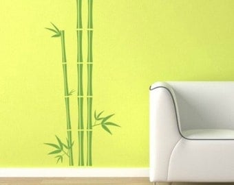 Bamboo Wall Art bamboo wall decal | etsy