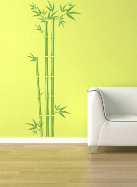 Bamboo Wall Decal, Tree Wall Decal, Bamboo Wall Art, Asian Wall Decor, Nature Wall Decal, Botanical Wall Art, Nursery Wall Decal