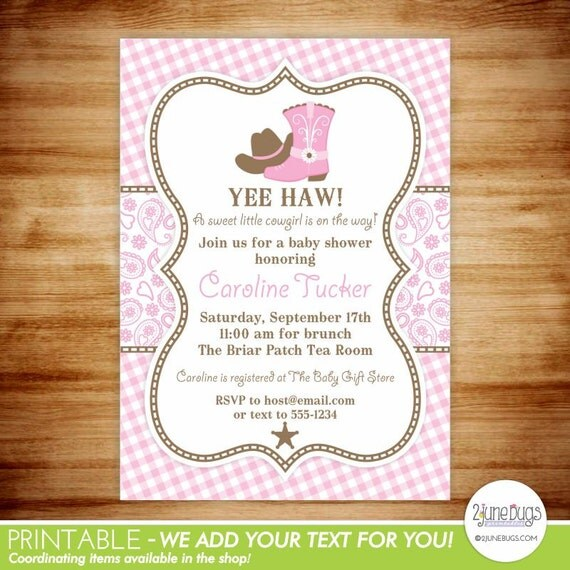 Cowgirl baby invitation cowgirl baby shower invitation baby girl il570xn filmwisefo
