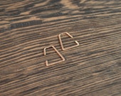 Small Trapazoid Threader Hoop Earrings - 14k Rose Gold Fill - 18 gauge