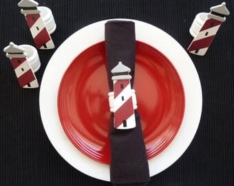 Lighthouse Napkin Rings - Set of 4