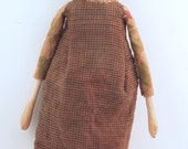 Cloth and Clay folk art doll primitive style artist made collectible ooak #3