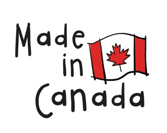 Made In Canada temporary tattoos • Canadian • Maple Leaf • SET OF 2 by carolyndraws • Canada Day • Canada's 150th Birthday