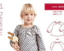 Minikrea 20200 Tunic Paper Sewing Pattern for Babys & Kids Dänish Design