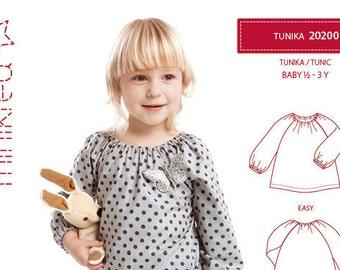 Minikrea 20200 Tunic Paper Sewing Pattern for Babys & Kids Dänish Design