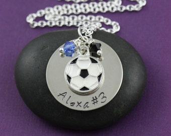 Soccer Necklace - Soccer Mom - Personalized Soccer Team Gift - Soccer Ball Charm - Foot Ball -Girls Soccer -Birthday Gift - Girl Gift