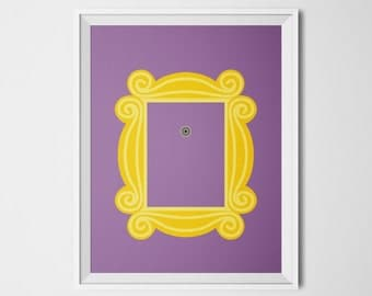 friends tv show friends peephole frame monica ross geller rachel green joey tribiani phoebe buffay chandler bing friends poster wall art