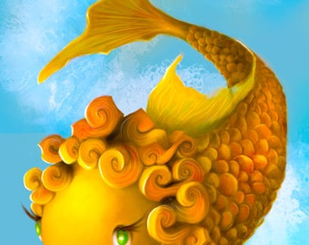 Mildred the Magic Goldfish Art Print