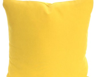 Solid Yellow Pillow Cover, Decorative Throw Pillows, Cushion Covers, Corn Yellow Euro Sham, Pillows for Couch Bed,  One or More All Sizes