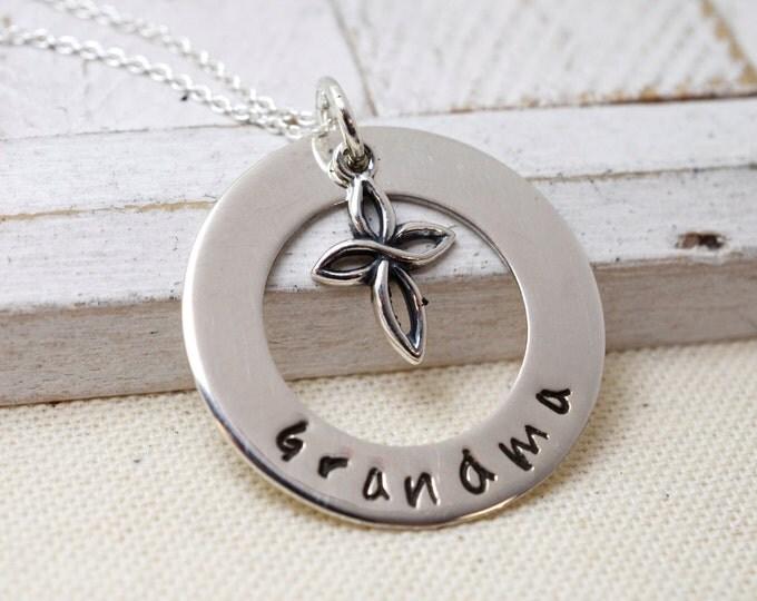 Grandma Necklace, Grandmothers Necklace, Nana Necklace, Grandma Necklace with Cross, Religious Jewelry, Necklace for Grandma, Gift for Nana