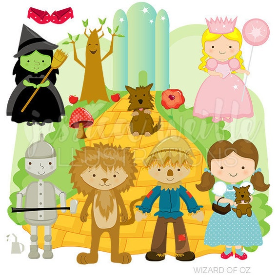 Wizard of Oz Cute Digital Clipart for Commercial or Personal