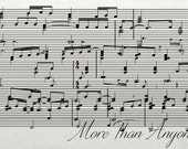 """Cotton Anniversary Gift, 2nd Anniversary Gift, Gift For Her, Gift For Wife, Sheet Music On Canvas 12x36"""""""
