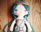 Mermaid -handmade fabric doll- cloth doll- OOAK