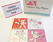 Valentine's Day Magnets - Bears and Pandas - Gift Wrapped with Note