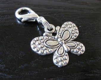 Dotted Butterfly Journal Charm