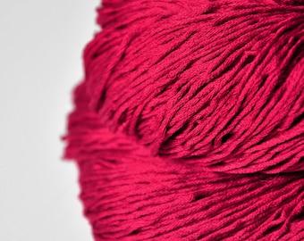 Sunken cocktail cherry  - Silk Fingering Yarn