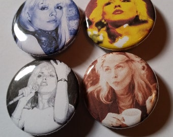 Blondie Debbie Harry pins pin game pinback buttons badges 4 pack
