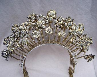 Vintage tiara crown Indonesian headdress headpiece belly dance tribal fusion hair accessory hair ornament hair jewelry