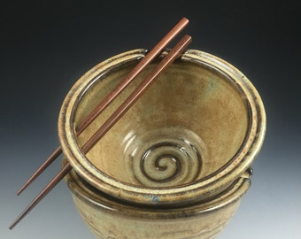 Rice Bowl Set - Pair of 2 Handmade Bowls - Chopstick, Noodle Bowls - In Stock Pottery Bowls - Set of Noodle Bowls