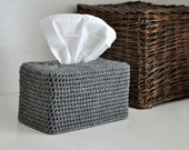 Modern Tissue Box Cover Nursery Decoration Grey Home Decor Kleenex Box Cover
