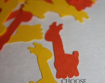 Choose your Colors! 200 pieces Giraffe Die Cut Confetti Table Decor