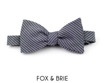 Engineer Stripe Bow Tie