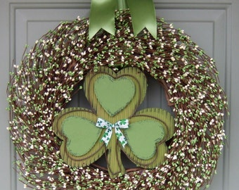 St. Patrick's Day Wreath - Wreath for St. Patricks Day - Shamrock Wreath