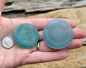 BOTTLE BASE PAIR - Scottish Beach Glass - Natural Sea Glass Shard  (4290)