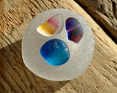 IMPERFECT SEAHAM MULTIS - Rainbow Nest - Seaham Sea Glass Shards - Collection (3464)