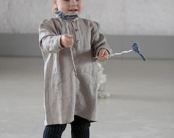Linen clothes Toddle Linen Long shirt Toddler outfit