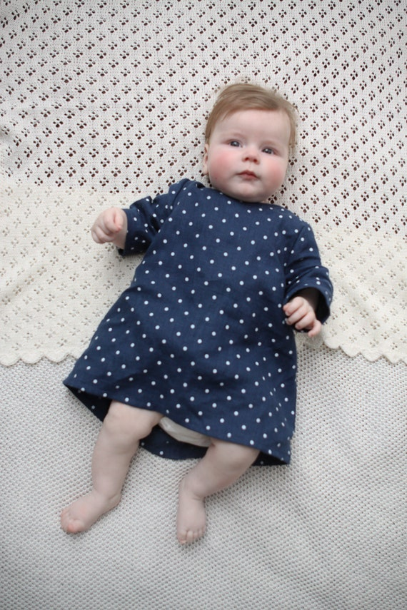 Items similar to Baby girl Linen dress Baby Girls clothes