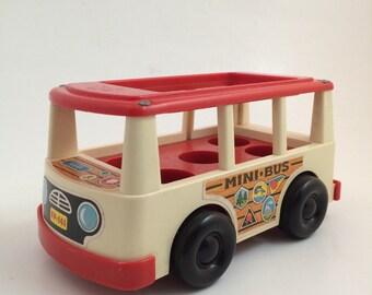 Vintage Fisher Price Mini Bus 141