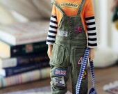 Sugarbabylove - Olive overall set for Momoko