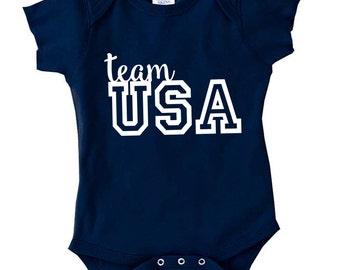 Team USA shirt, baby shirt, Baby Olympic apparel, Toddler tee, USA shirt, Rio 2016 shirt, NB-5/6T