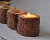 Candle Holder  •  Natural Pine Candle Holders