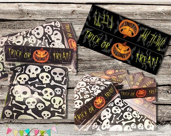 Last Minute Printable Halloween Bag Toppers - INSTANT Download - Super Fast to Make - Easy for Trick Or Treaters - Printable