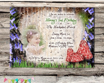 The Enchanted Forest Party Invitation - Printable - Digital File - INSTANT DOWNLOAD