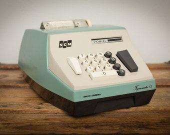 Smith-Corona Adding Machine, SCM Figurematic Model 708-G, Vintage 60s