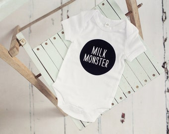 Milk Monster White BabyGrow Onesie