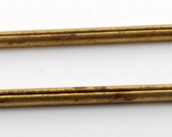 """Vintage Antique Solid Brass Extra Long Cotter Pins Lot Of 2 New Old Stoc 2 7/8"""" DIY Steampunk"""