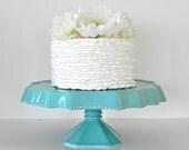 Cake Stand Wedding Cake Stand Cupcake Stand Turquoise Teal Blue Dessert Bar Cake Topper Wedding Event Rustic Beach Nautical Wedding